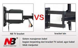 Bracket TV Swivel bisa tengok kiri kanan NB-P4-1