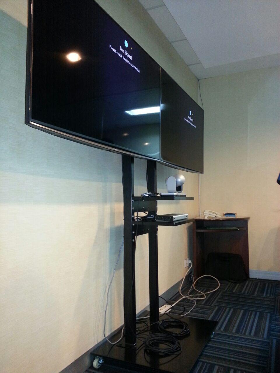 standing bracket dual tv biasa