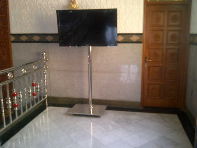 bracket TV Standing stainles-1-tiang